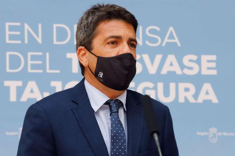 El presidente de la Diputación de Alicante, Carlos Mazón, durante una rueda de prensa. EFE
