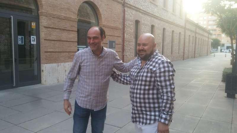 El alcalde de Gilet, Salva Costa, junto al director general de Medi Natural, Fran Quesada. EPDA