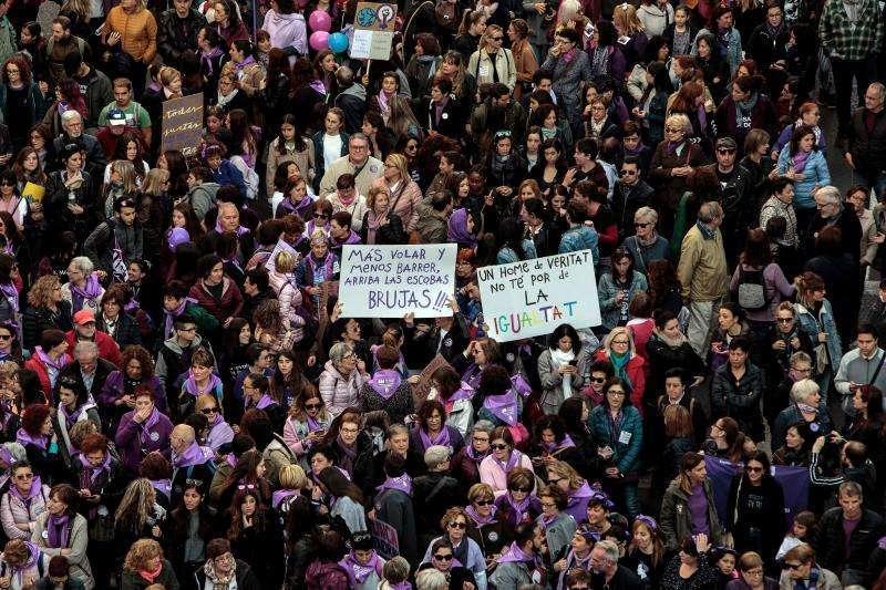 Manifestaciones 8M de otros años. EPDA.