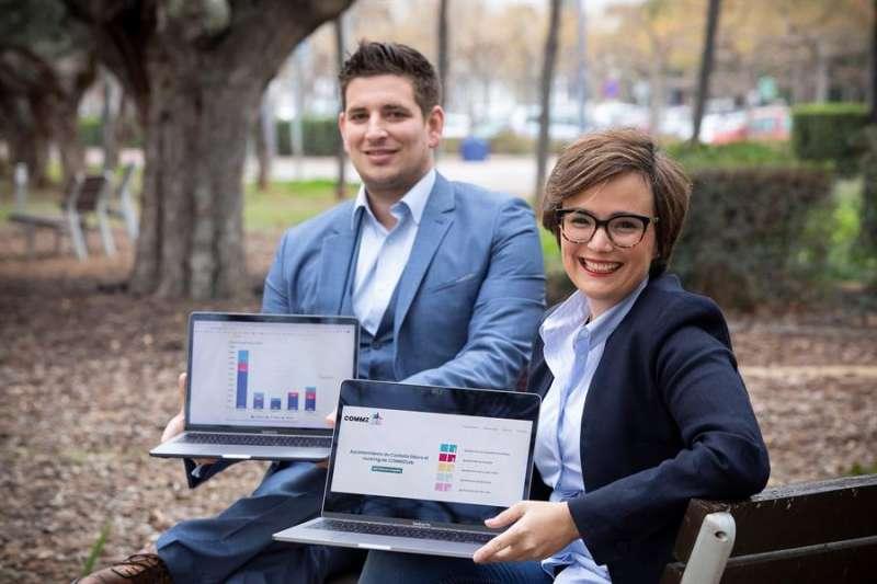 El Ayuntamiento de Castelló lidera el ranking de COMMZLab, la iniciativa de Nadia Viounnikoff-Benet y Max Sattonnay sobre la gestión de redes sociales de las administraciones locales en la provincia de Castellón. EFE/ Domenech Castelló