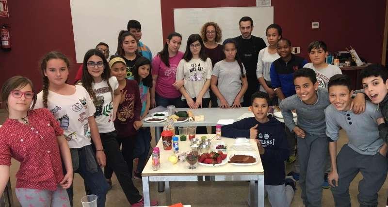 Participants del taller de cuina