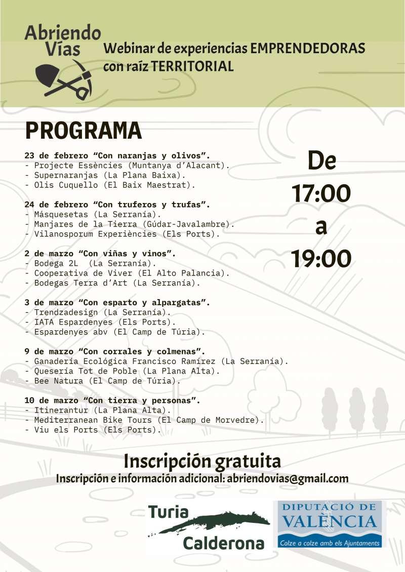 Programación de los seminarios on line. / EPDA