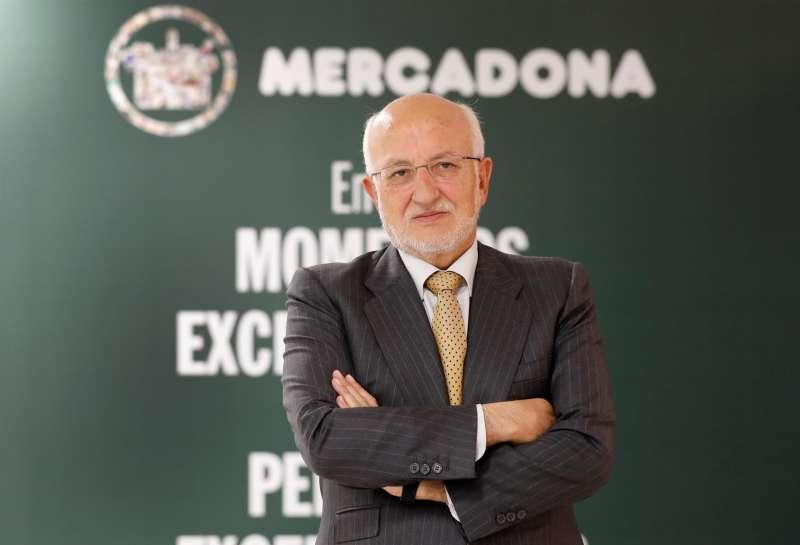 El presidente de Mercadona, Juan Roig, durante la presentación de los resultados de la compañía en 2020. EFE/Ana Escobar/Archivo