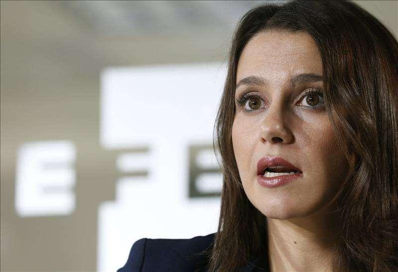 La Presidenta de Ciudadanos, Inés Arrimadas
