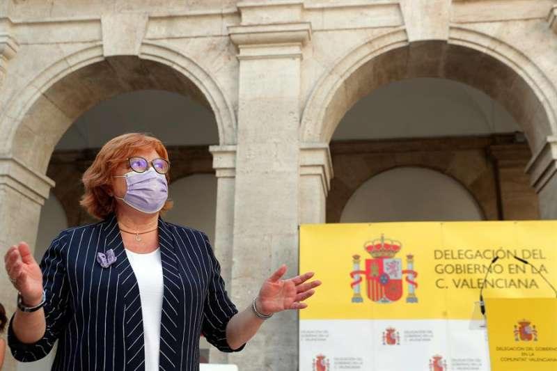 La delegada del Gobierno en la Comunitat Valenciana, Gloria Calero, en un acto celebrado hoy. EFE