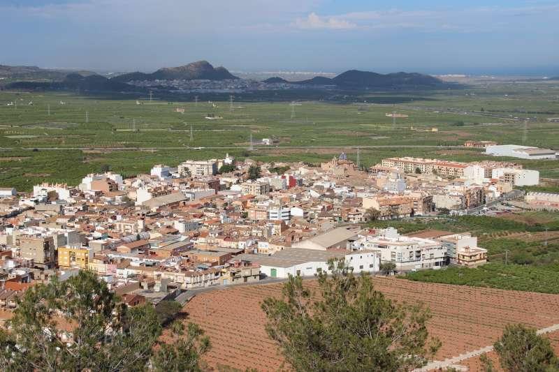 Vista aèria del municipi de Faura. / EPDA