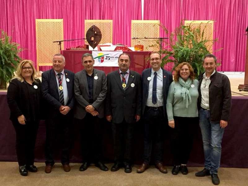 Alcaldes del Palancia y de Boisseuil con Ernest Blanch