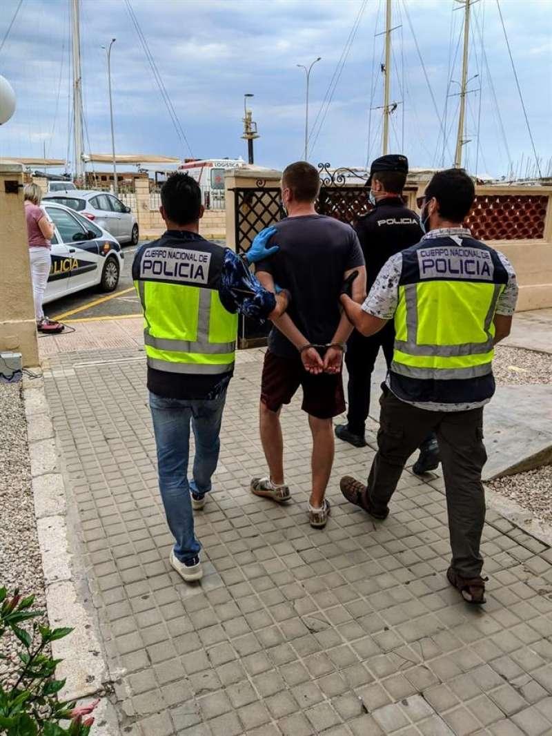 Imagen del detenido en Denia facilitada por la Policía Nacional
