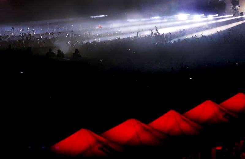 Momento de un concierto de The Chemical Brothers en Benidorm. EFE/Archivo