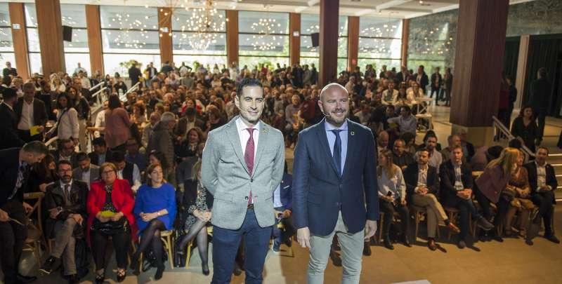 Bielsa y Gaspar, en la presentación del plan. EPDA