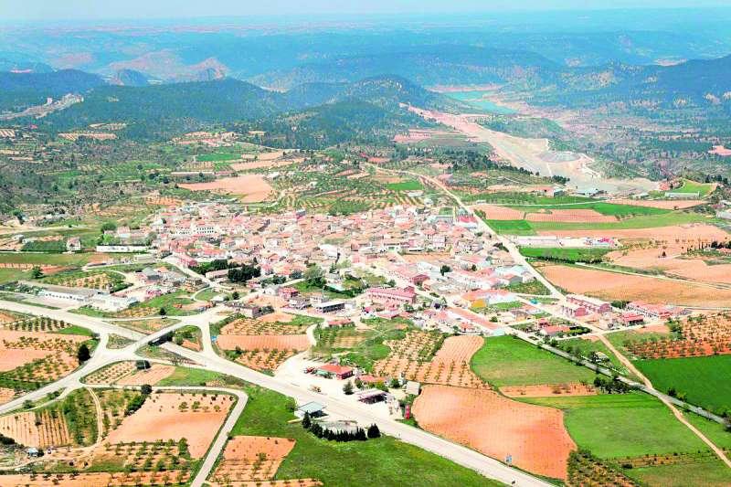 Vista aérea de Villargordo del Cabriel