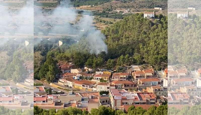 Incendio en Gilet. EPDA