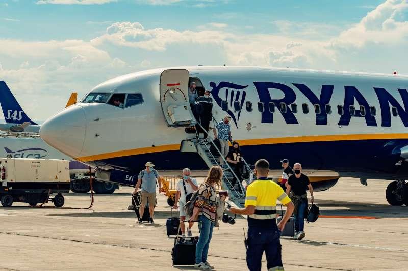 Avión de la compañía Ryanair.