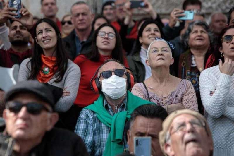 Una mascletà en València de las Fallas 2020. EPDA