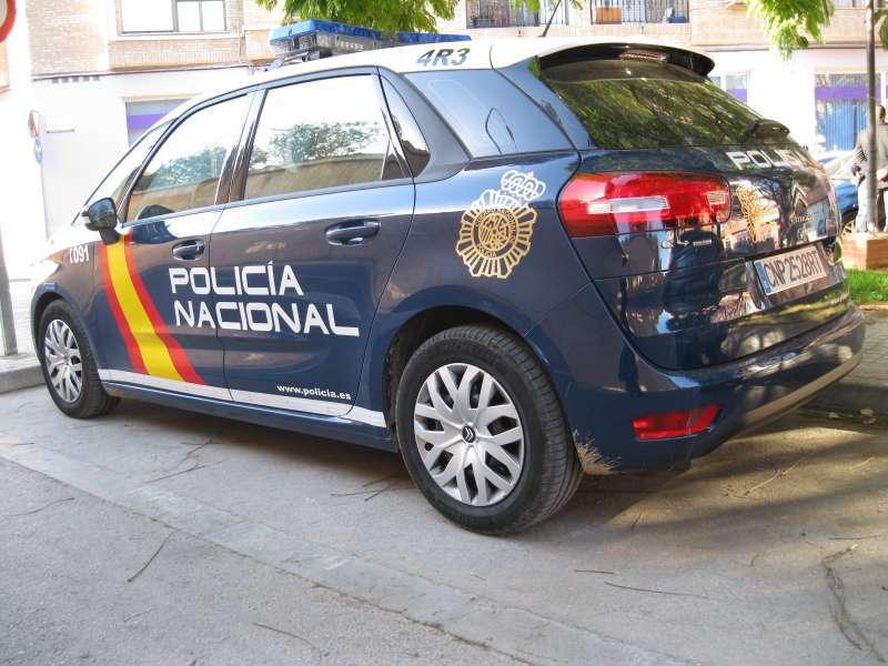 Coche de la Policía Nacional en Valencia.