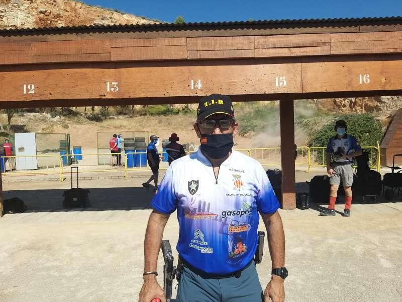 El campeón de tiro, Antonio Comeche. / EPDA