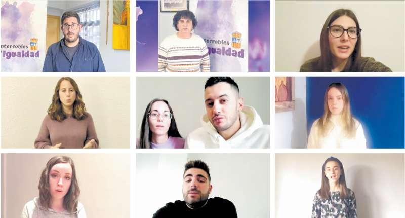 Participantes en el vídeo.
