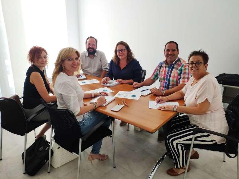 Reunió dels concejals de Vilamarxant i la Mancomunitat. / EPDA