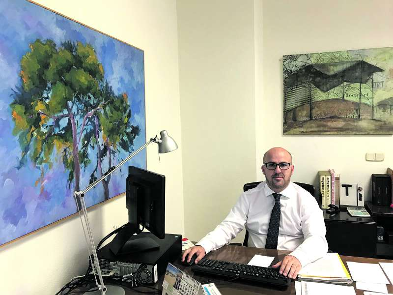 El alcalde de Rocafort, Guillermo J. Gimeno. EPDA
