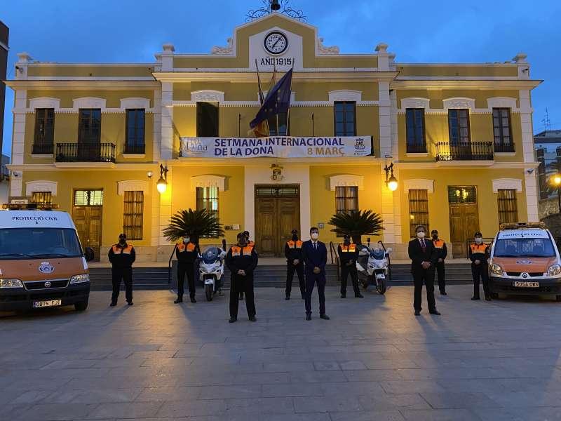 Acto de homenaje a Protección Civil en Burjassot. EPDA