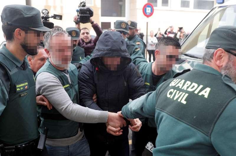 El sospechoso de la muerte de Marta Calvo, Jorge Ignacio P.J., a su llegada al Juzgado 6 de Alzira (Valencia).