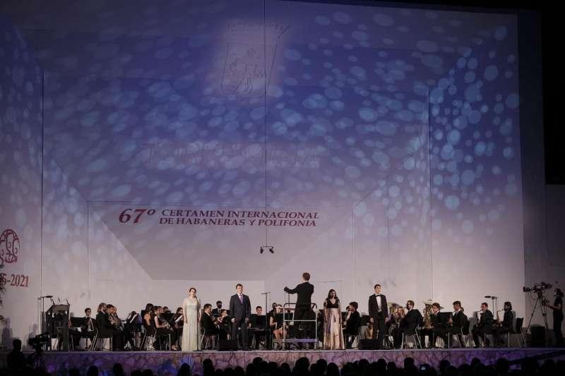 Imagen de la clausura del festival de Habaneras, facilitada por la organización del certamen.