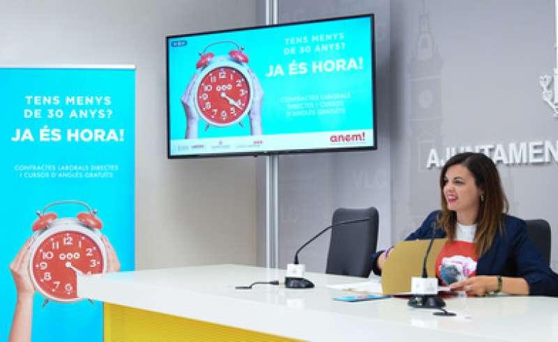 La regidora en funcions de Desenvolupament Econòmic Sostenible, Sandra Gómez.