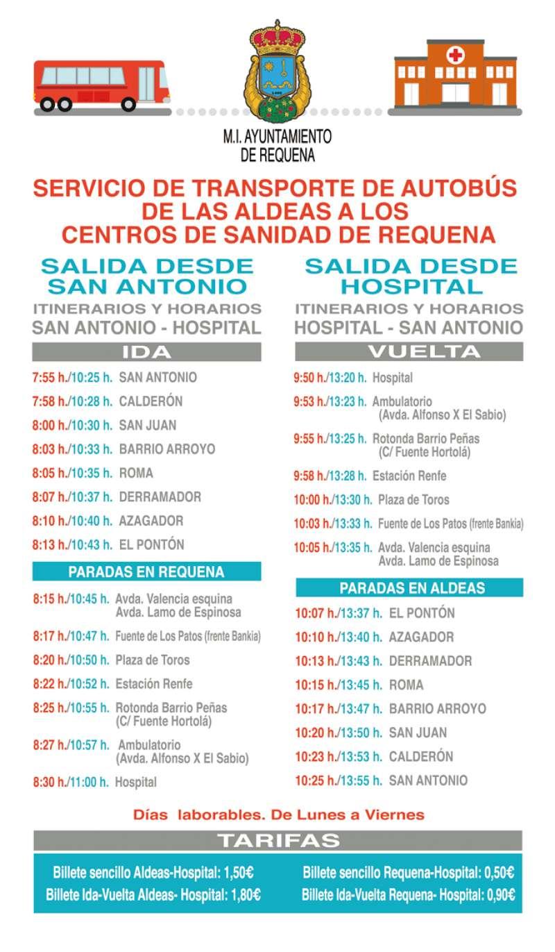 Horarios del Bus del Hospital de Requena