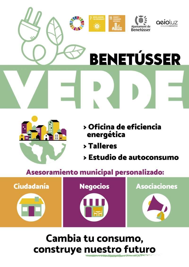 Cartel promocional de la iniciativa medioambiental del Ayuntamiento de Benetússer.