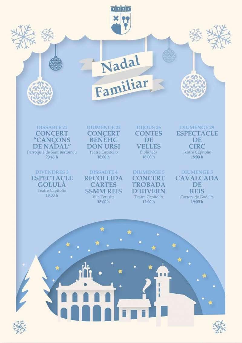 Cartel de la programación para estas navidades en Godella. -EPDA