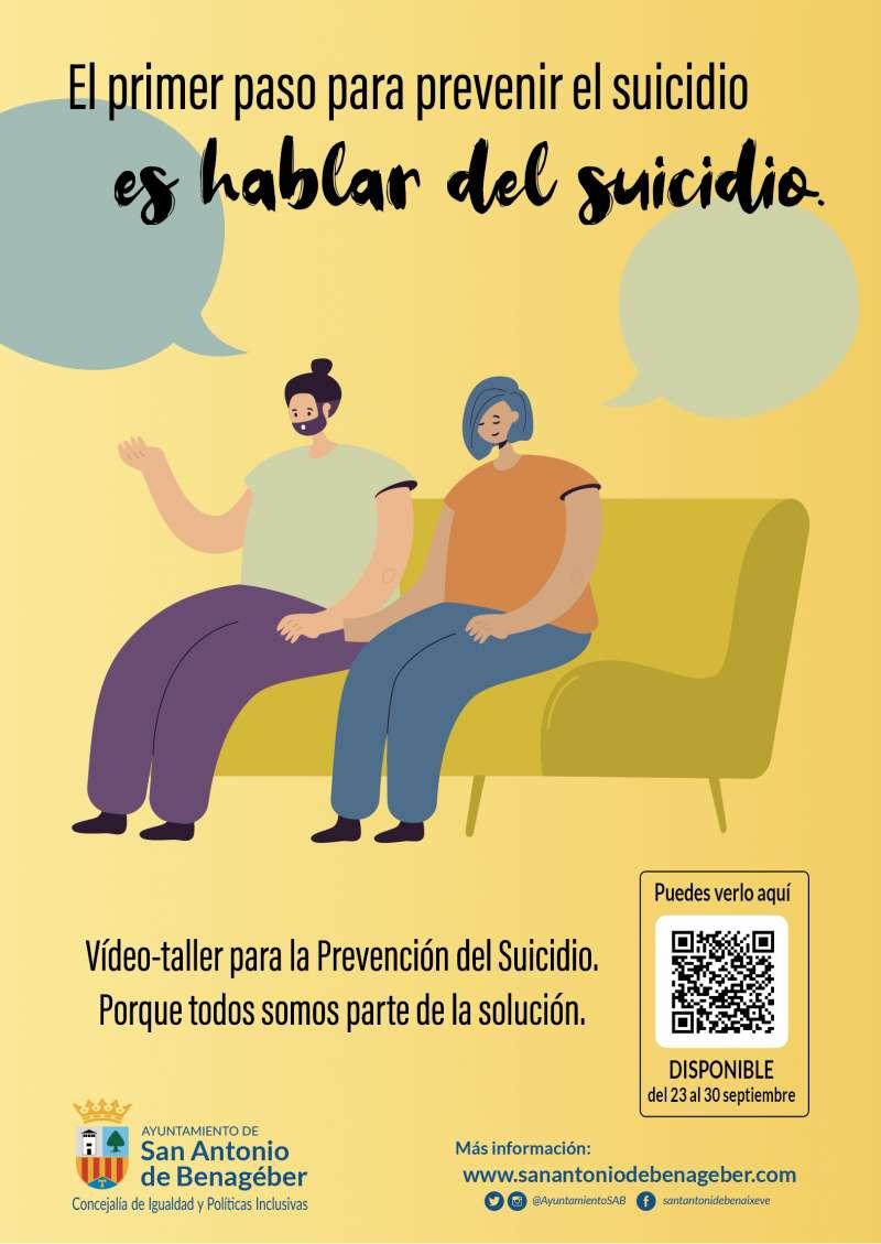 Cartel de prevención del suicidio. EPDA.