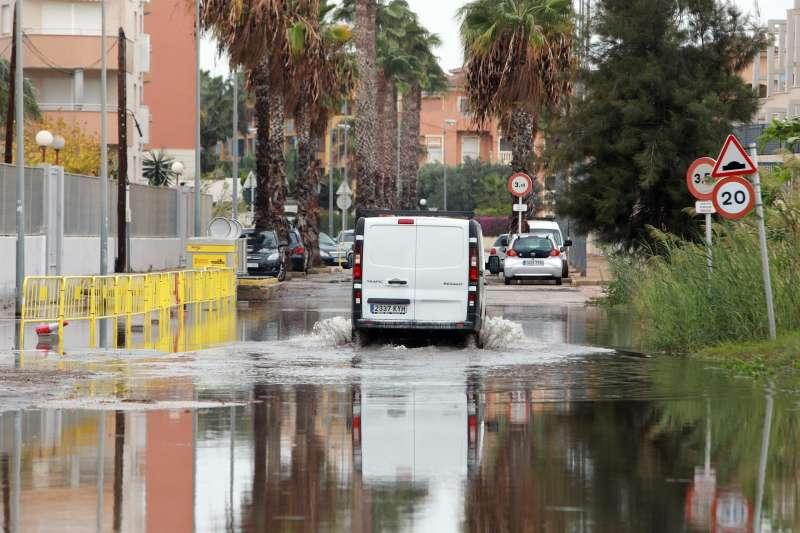 Imagen de archivo de una zona residencial en Dénia (Alicante) tras un episodio de intensas lluvias.