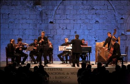 Grupo La Dispersione en el Castillo Papa Luna de Peñíscola. Foto: EPDA.