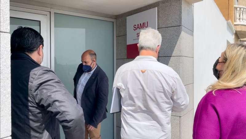 Visita a la nueva base de la SAMU