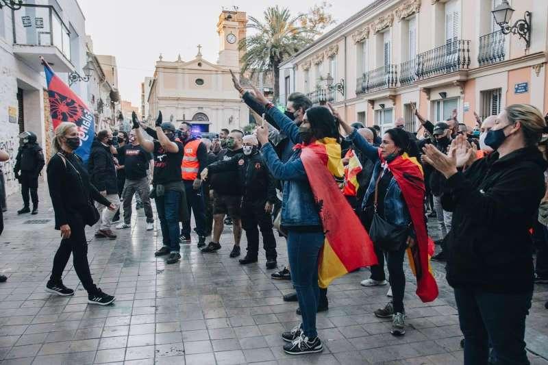 Manifestación ultra