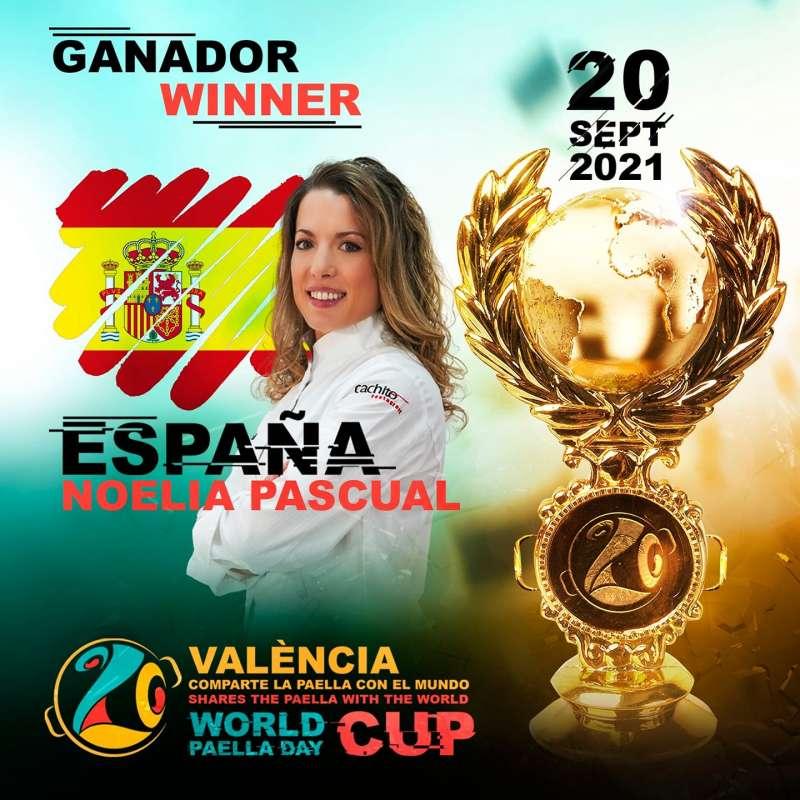 La ganadora Noelia Pascual./EPDA