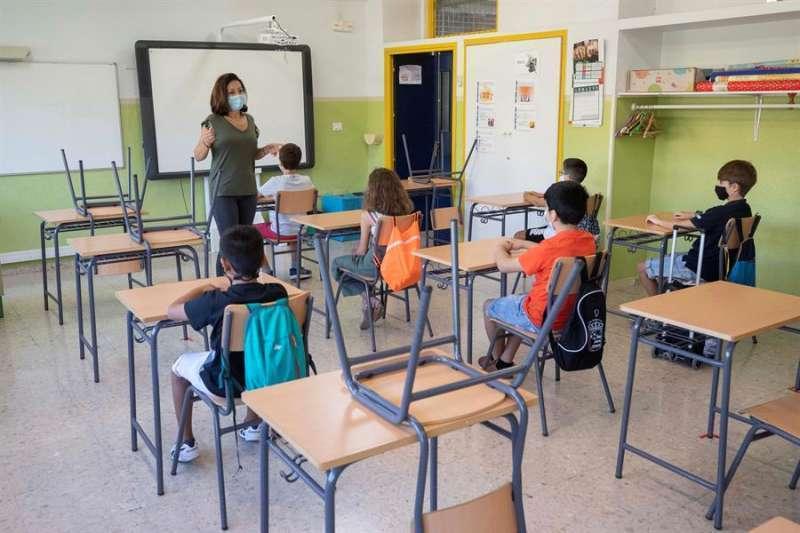 Imagen de archivo de una escuela valenciana.