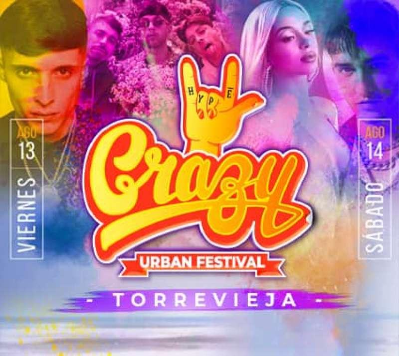 Cartel del Crazy Urban Festival en Torrevieja. Imagen: Crazy Festival