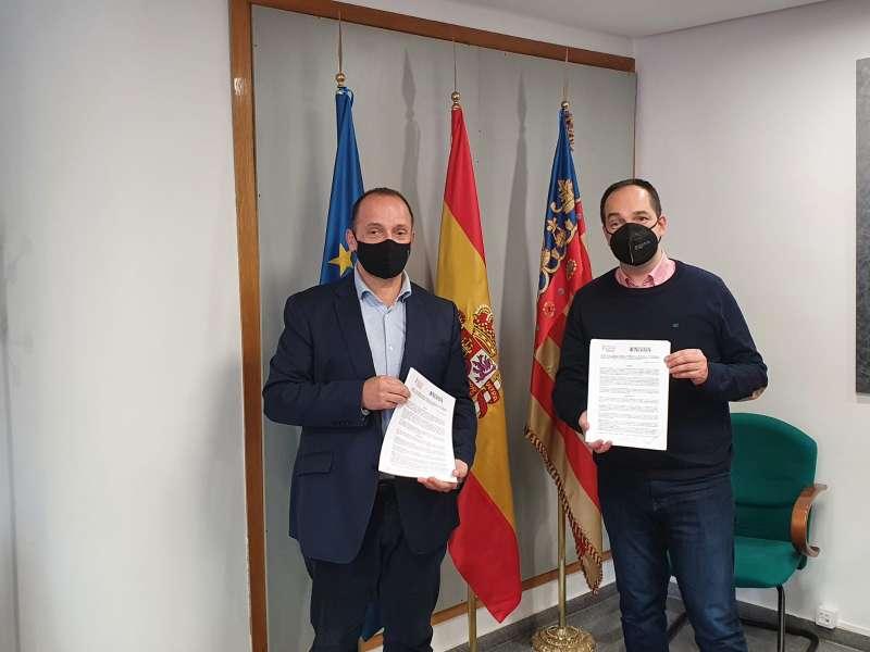 Dalmau y el alcalde de Aldaia. EPDA