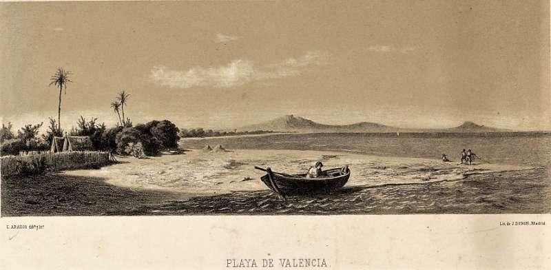 PLAYA DE VALENCIA. Ceferino Araujo Sánchez. 1862