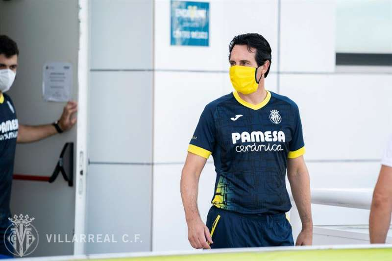 El entrenador del Villarreal, Unai Emery, en la vuelta al trabajo del equipo. Foto cedida por el Villarreal CF.