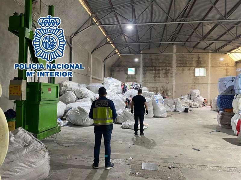 Nave industrial del empresario, en una imagen facilitada por Policía Nacional. / EPDA