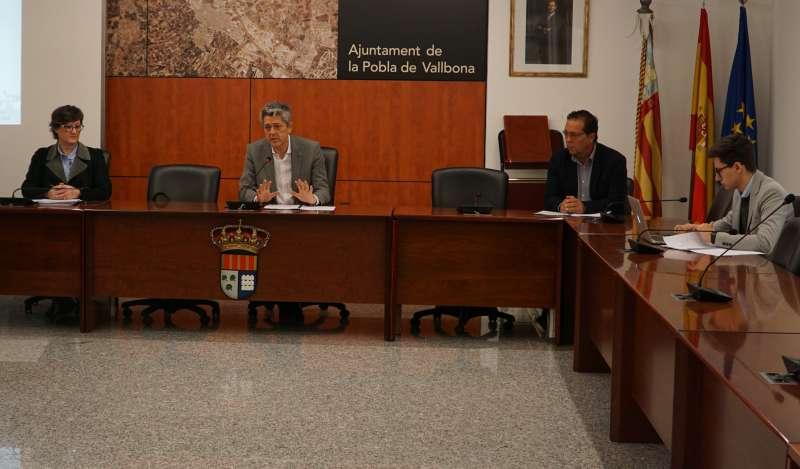 Portavoces en el Ayuntamiento de La Pobla. / EPDA