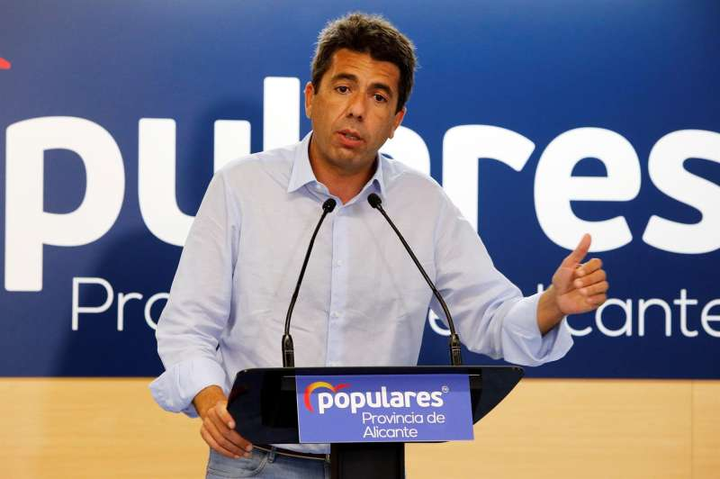 El presidente del Partido Popular de la Comunidad Valenciana, Carlos Mazón.