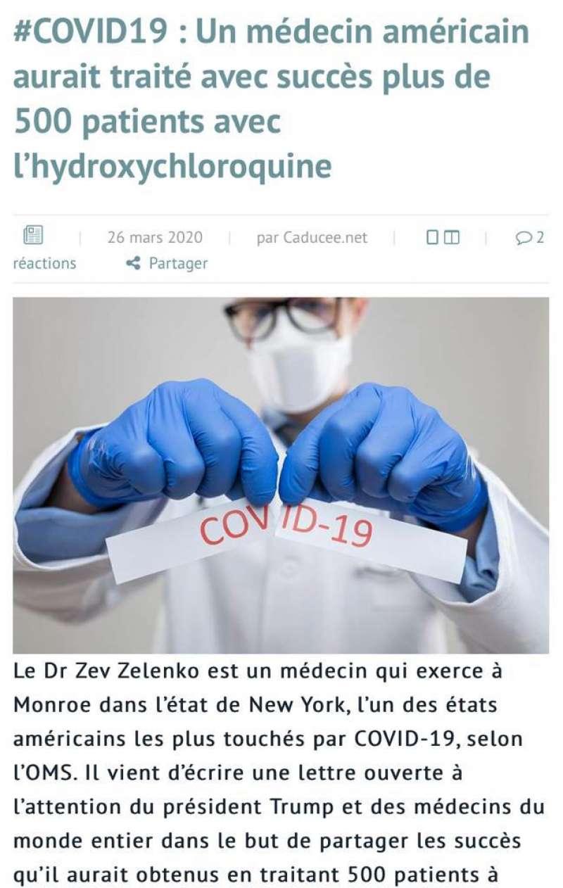 Parte del artículo publicado en un periódico especializado médico francés. EPDA