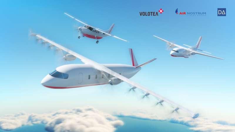 Así será el primer avión 100% eléctrico de Volotea, Air Nostrum y Dante Aeronautical. EPDA