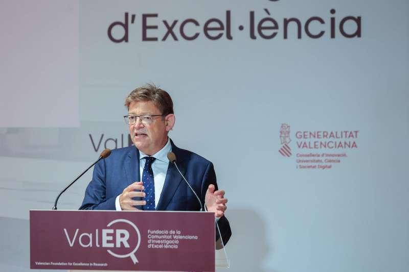 El president de la Generalitat, Ximo Puig, durante la presentación de ValER