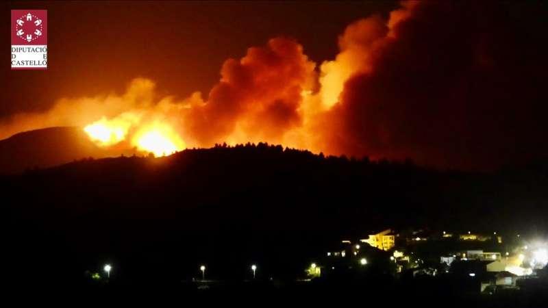 Incendio en Azuébar hace escasos minutos