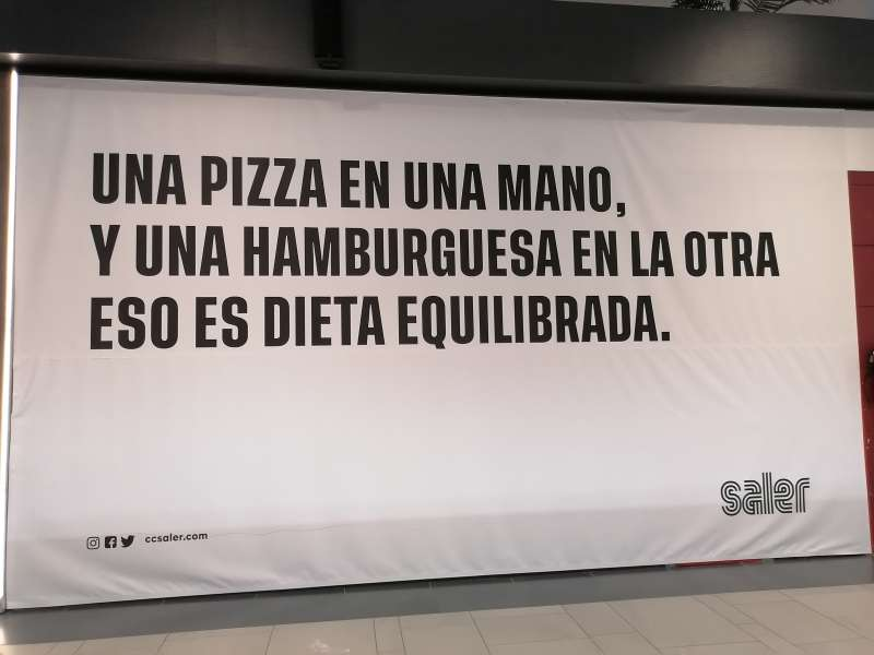 Publicidad del Centro Comercial El Saler