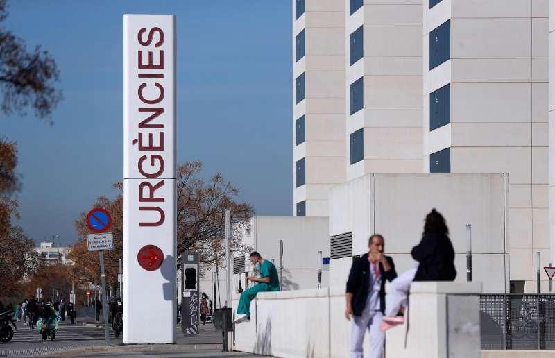 Imagen del acceso a urgencias del Hospital La Fe de Valencia.